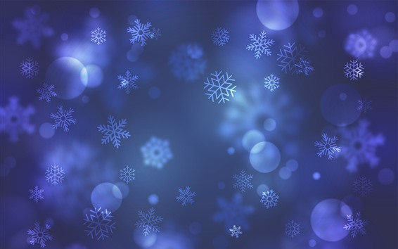 Wallpaper Snowflakes, art background
