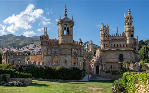 Wallpaper Spain, Colomares Castle