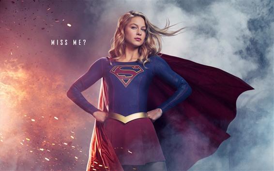 Fondos de pantalla Supergirl, serie de televisión, chica rubia, superhéroe