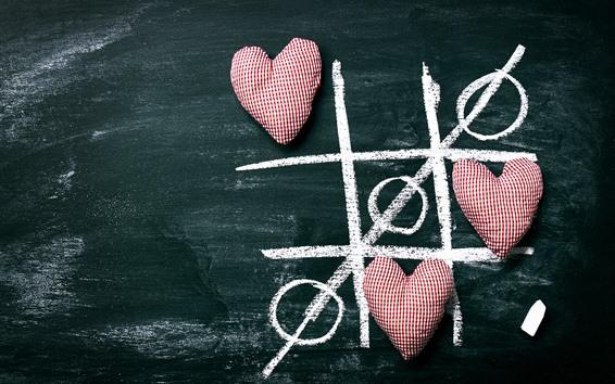 Wallpaper Three love hearts, romantic