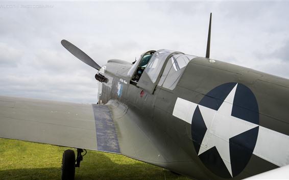 Wallpaper Aircraft, green grass