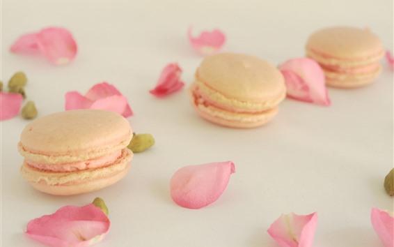 Wallpaper Cakes, pink rose petals