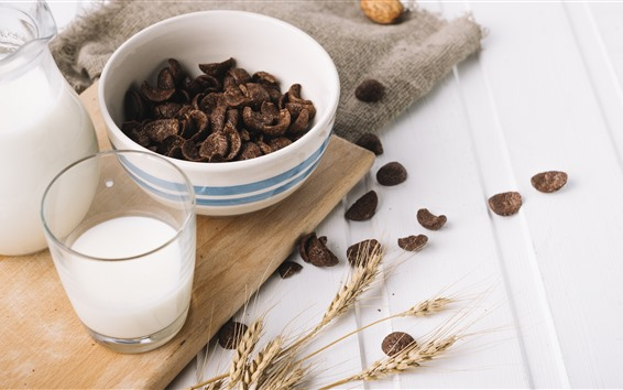 Papéis de Parede Chocolate, leite, comida