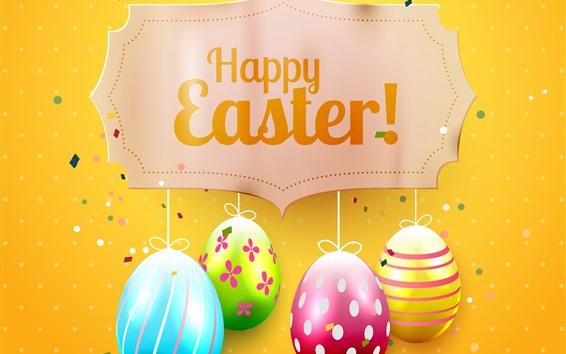 Fond d'écran Oeufs colorés, Joyeuses Pâques, photo d'art