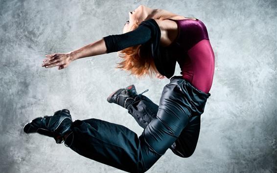 Wallpaper Dancing girl, jumping, pose