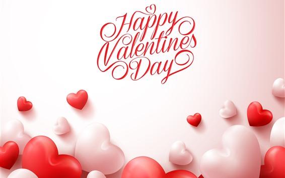 Обои С Днем Святого Валентина, люблю сердца, романтично