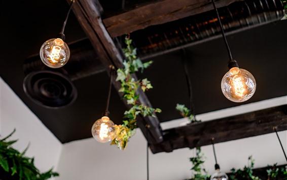 Wallpaper Lamp, light bulb