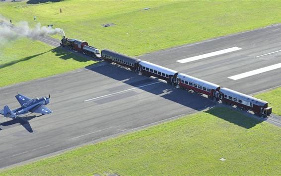 Fond d'écran Nouvelle Zélande, train, avion
