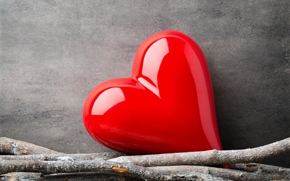 Wallpaper One Red Love Heart 2560x1600 Hd Picture Image