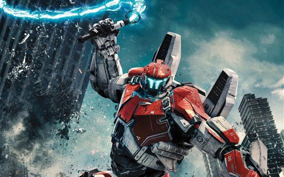Wallpaper Robot, city, battle