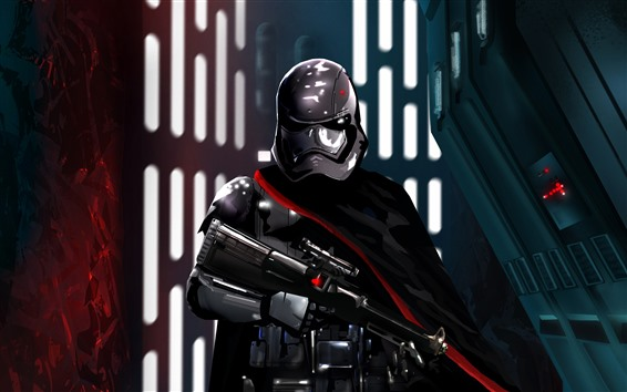 Wallpaper Star Wars, soldier, helmet, weapon, art picture