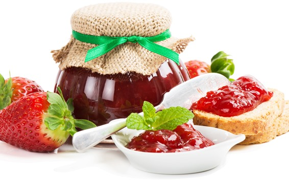 Wallpaper Strawberry, jam, sandwich