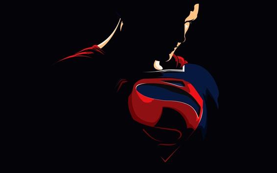 Обои Супермен, супергерой, векторное изображение