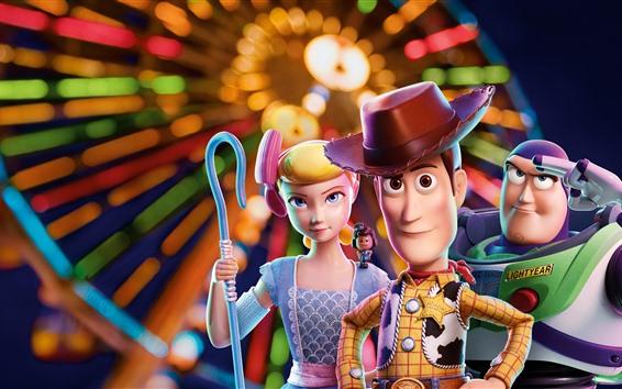 Papéis de Parede Toy Story 4, filme de desenho animado em 3D