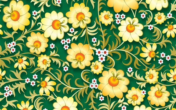 Wallpaper Vector flowers background