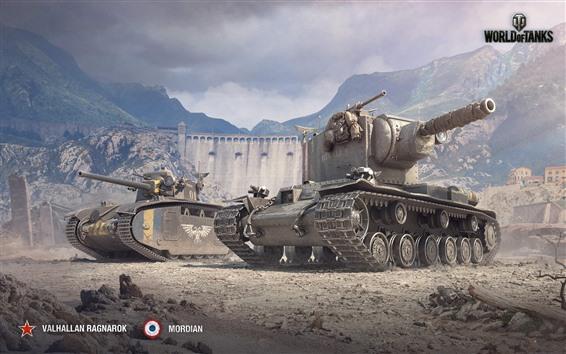 Fondos de pantalla Mundo de tanques, montañas, guerra.