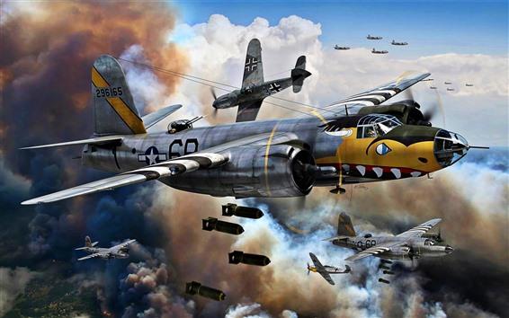 Wallpaper Air Force, bomber, war, art picture