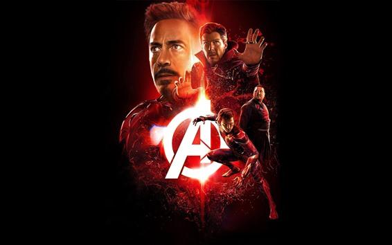 Wallpaper Avengers: Endgame, superheroes, black background