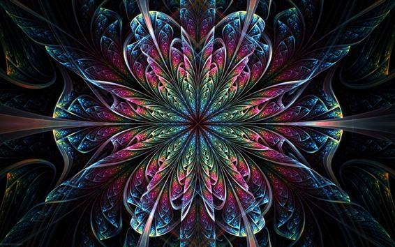 Обои Красивый абстрактный цветок, узор, разноцветный