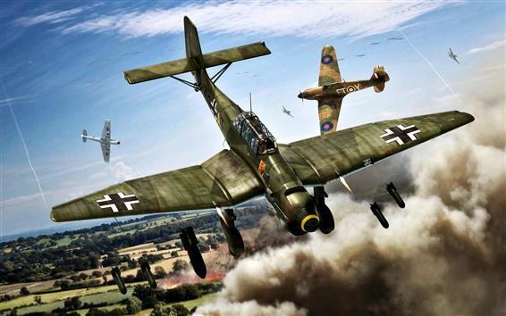 Wallpaper Bomber, war, art picture