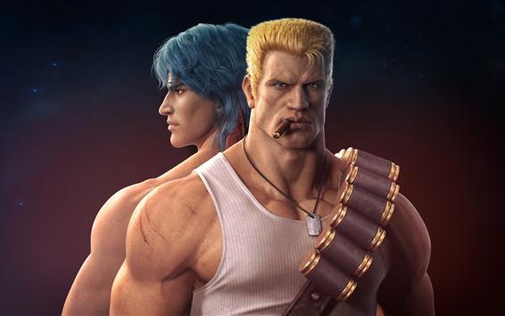 Обои Контра, солдаты, классическая видеоигра