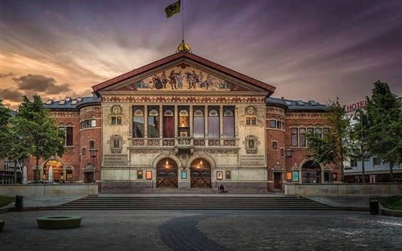 Wallpaper Denmark, theatre, dusk
