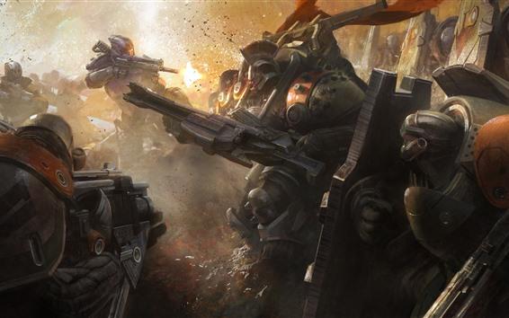 Wallpaper Destiny, robot, war, game art picture