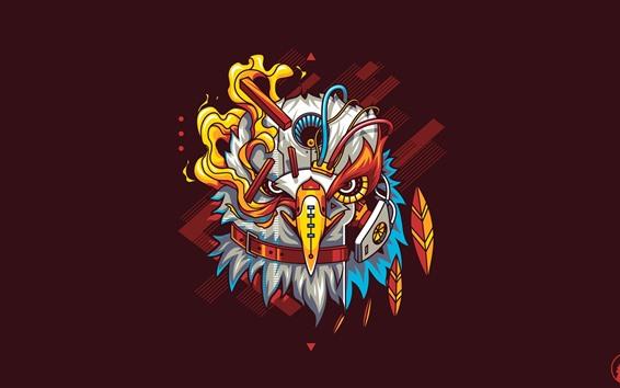 Wallpaper Eagle, robot, art picture