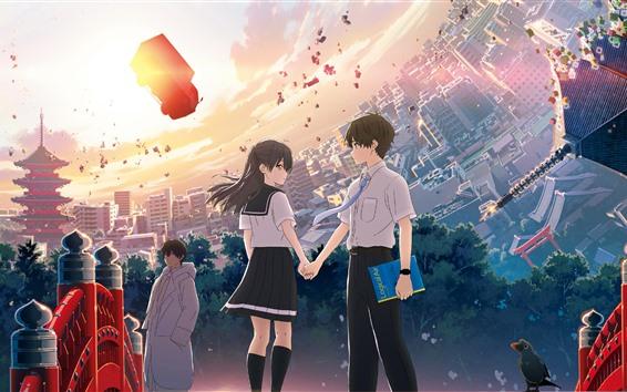 Fondos de pantalla HOLA MUNDO, película de anime 2019