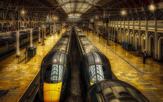 Wallpaper London, England, Paddington Station, trains, hall