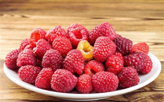 Wallpaper Many raspberries, fruit, berries