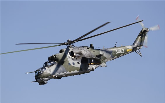 Wallpaper Mi-35 helicopter