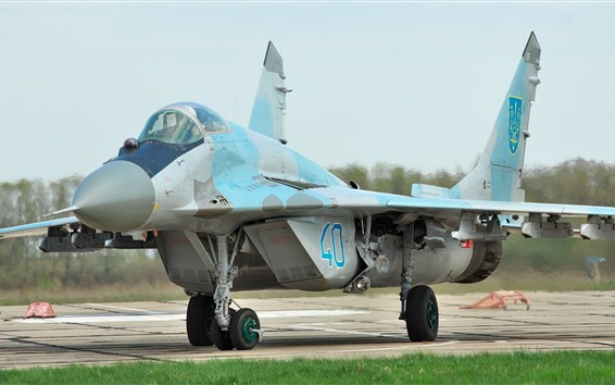 Wallpaper MiG-29 fighter, Ukraine