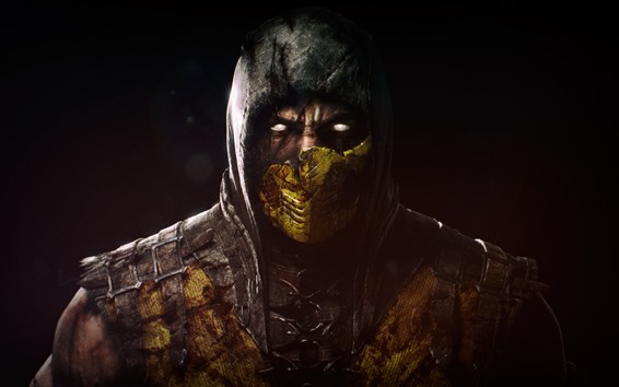 Wallpaper Mortal Kombat X, mask