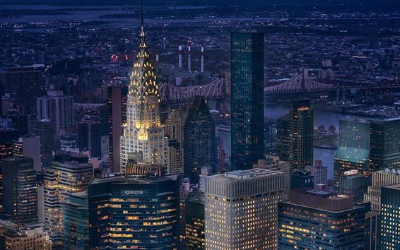 Fond d'écran New york, manhattan, usa, gratte-ciel, lumières, nuit, ville