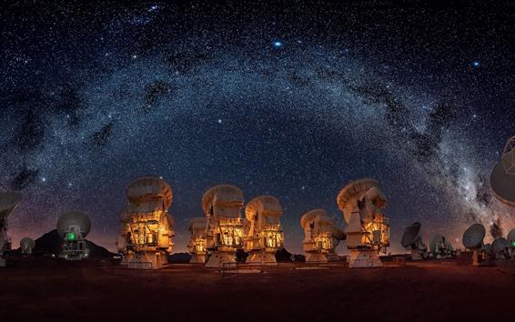 Fond d'écran Nuit, étoilé, radiotélescopes