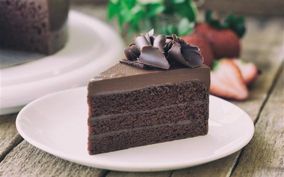 Обои Один кусочек шоколадного торта, еда, десерт