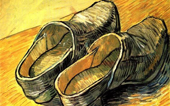 Обои Обувь, живопись маслом, Винсент Ван Гог