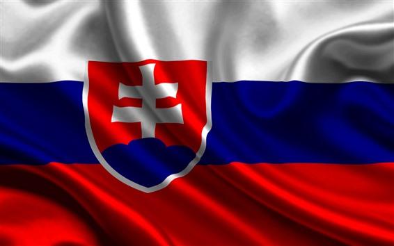 Fond d'écran Drapeau slovaquie