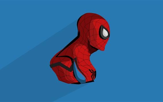 Fond d'écran Spider-Man, anime, fond bleu