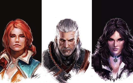 Fondos de pantalla The Witcher, personajes