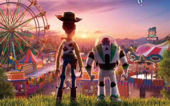Papéis de Parede Toy Story 4, vista traseira