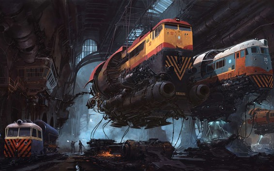Papéis de Parede Trens, futuro, sci-fi, imagens de arte