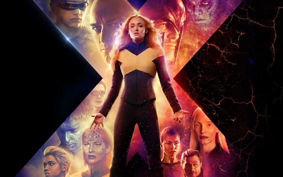 Wallpaper X-Men: Dark Phoenix, 2019 movie