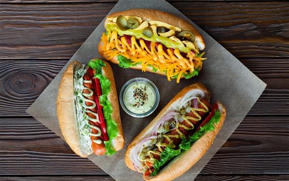 Wallpaper Breakfast, salad, hot dog