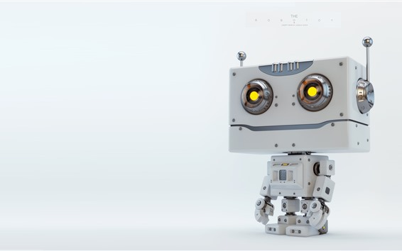 Wallpaper Cute robot, creative design