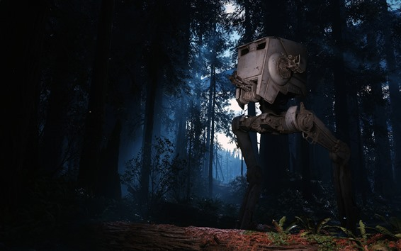 Wallpaper Forest, robot, Star Wars: Battlefront