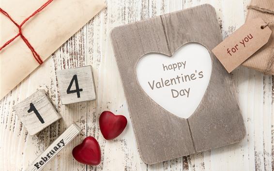 Wallpaper Happy Valentine's Day, February 14, love hearts