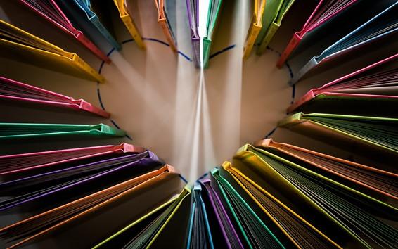Wallpaper Love heart, books