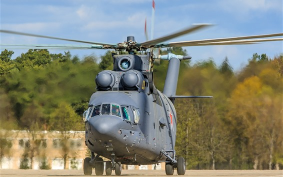 Wallpaper Mi-26 helicopter front view
